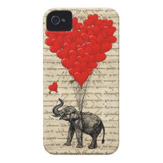 Éléphant et ballons en forme de coeur coques Case-Mate iPhone 4