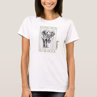 elephant EXTINCTION womens tee