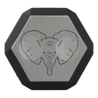 Elephant face silhouette black bluetooth speaker