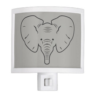 Elephant face silhouette nite light
