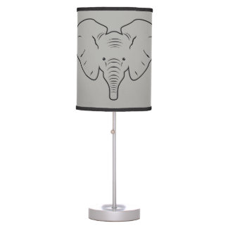 Elephant face silhouette table lamp
