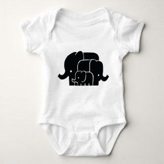 Elephant Family Baby Bodysuit