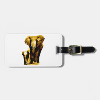 Elephant Family Tags For Bags