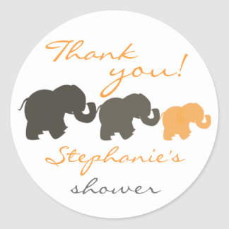 Elephant Family Thank You Stickers