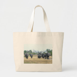 Elephant Family Tom Wurl Large Tote Bag