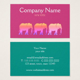 Elephant Fashion Boutique Modern Company Pink Business Card