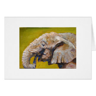 Elephant fine art greeting card