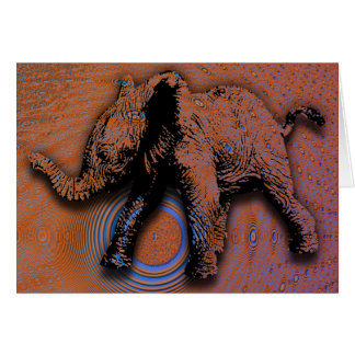 elephant fractal card