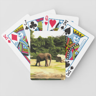 Elephant from Safari Bicycle Playing Cards