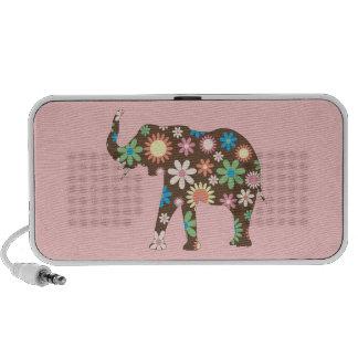 Elephant funky retro floral flowers cute speakers