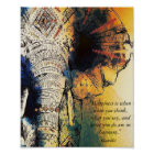 Elephant Gandhi Quote Poster
