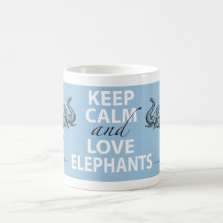 Elephant Gift Keep Calm and Love Elephants Print Coffee Mug