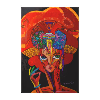 Elephant girl canvas print