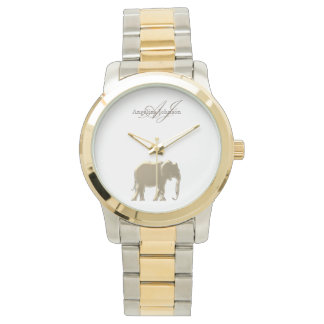 Elephant Golden Elegant Monogram Classy Custom Watch