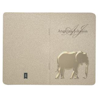Elephant Golden Elegant Sandstone Monogram Classy Journal