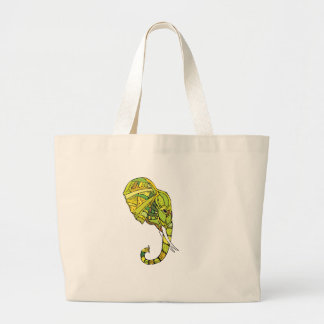 Elephant graphic design large tote bag