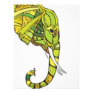 Elephant graphic design letterhead template