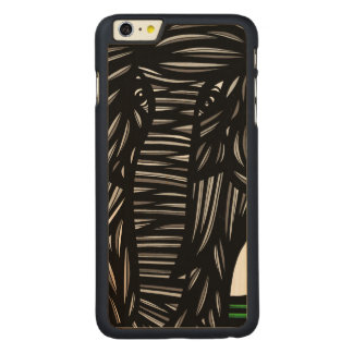 Elephant Grey Black Carved Maple iPhone 6 Plus Case