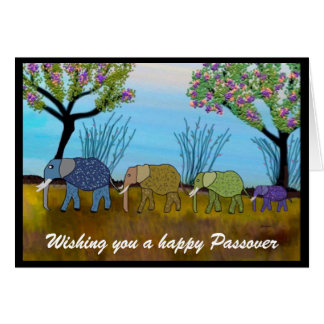 Elephant Habitat Passover Card