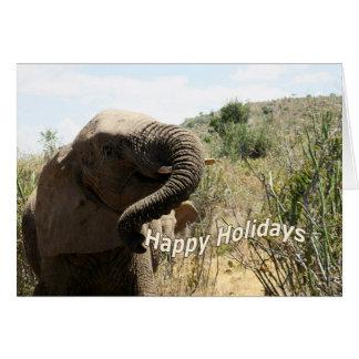 Elephant 'Happy Holidays' Card