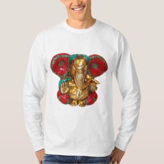 Elephant Head Brass Statue Indian Hindu Temple Art T-Shirt
