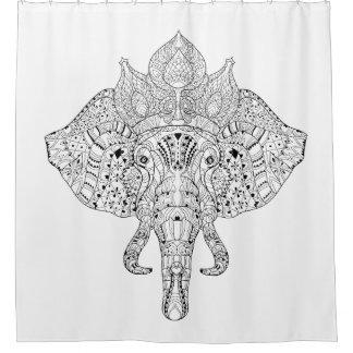 Elephant Head Inspired Doodle