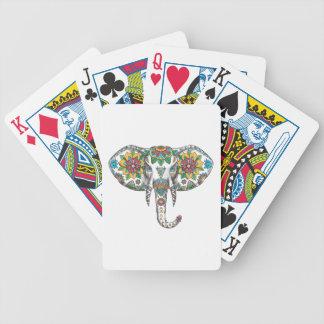 Elephant Head Mandala Tattoo Bicycle Playing Cards
