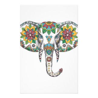 Elephant Head Mandala Tattoo Stationery