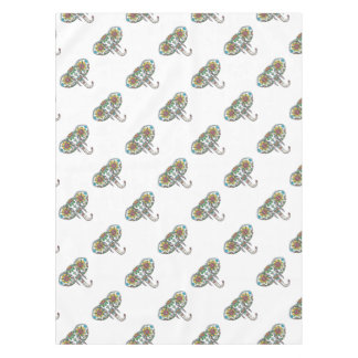 Elephant Head Mandala Tattoo Tablecloth