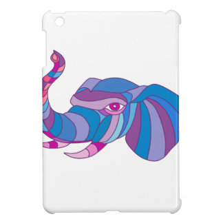 Elephant Head Side Low Polygon Case For The iPad Mini