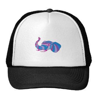 Elephant Head Side Low Polygon Trucker Hat