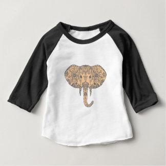 Elephant Head Tusk Mandalaa Baby T-Shirt