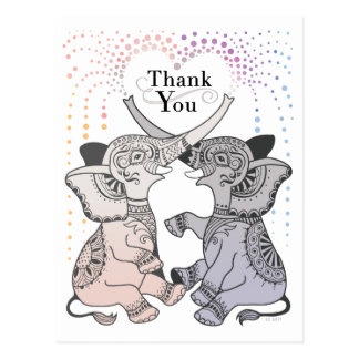 Elephant Heart Thank You Postcard