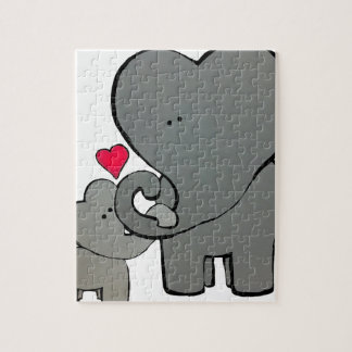 Elephant Hearts - An Unforgetable Love Jigsaw Puzzle
