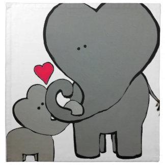 Elephant Hearts - An Unforgetable Love Napkin