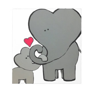 Elephant Hearts - An Unforgetable Love Notepad