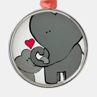 Elephant Hearts - An unforgettable love. Metal Ornament
