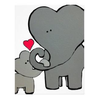Elephant Hearts - An unforgettable love. Personalized Letterhead