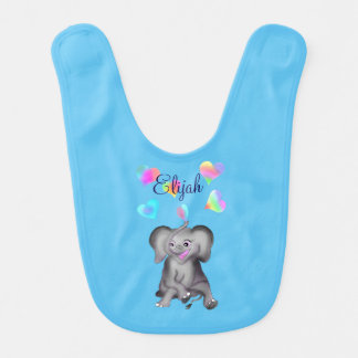 Elephant Hearts by The Happy Juul Company Bib