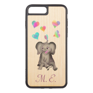 Elephant Hearts by The Happy Juul Company Carved iPhone 8 Plus/7 Plus Case