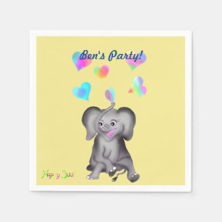 Elephant Hearts by The Happy Juul Company Disposable Napkin