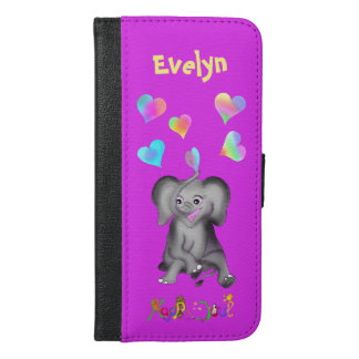 Elephant Hearts by The Happy Juul Company iPhone 6/6s Plus Wallet Case