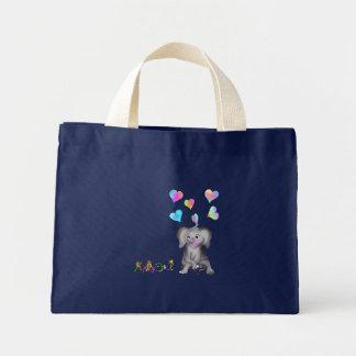 Elephant Hearts by The Happy Juul Company Mini Tote Bag