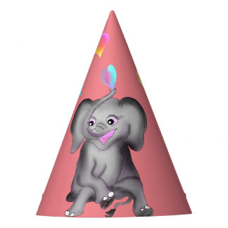 Elephant Hearts by The Happy Juul Company Party Hat
