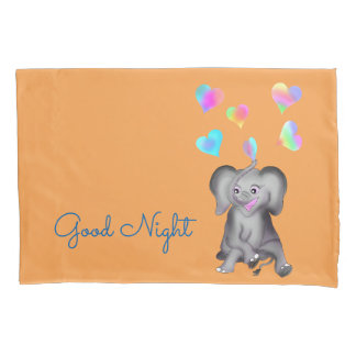 Elephant Hearts by The Happy Juul Company Pillowcase