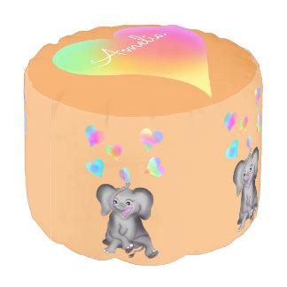 Elephant Hearts by The Happy Juul Company Pouf