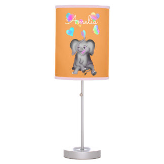 Elephant Hearts by The Happy Juul Company Table Lamp