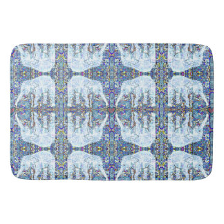 Elephant Hearts Mandala Pattern Bathroom Mat