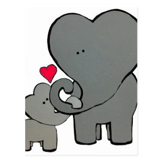 Elephant Hearts Postcard