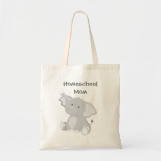 Elephant Homeschool Mom Tote Bag